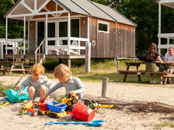 Strandhaus bungalow kinder dünen camping gevrsduin holland