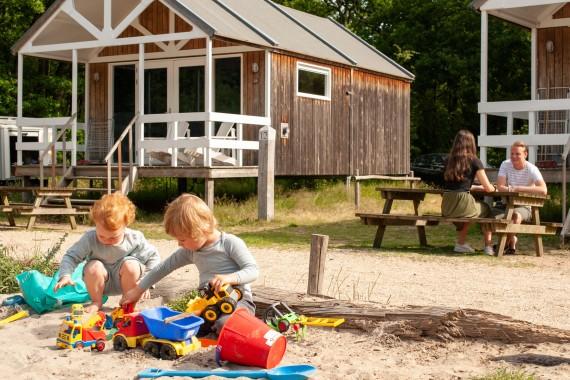 Strandhaus Kinder Spielen Sand