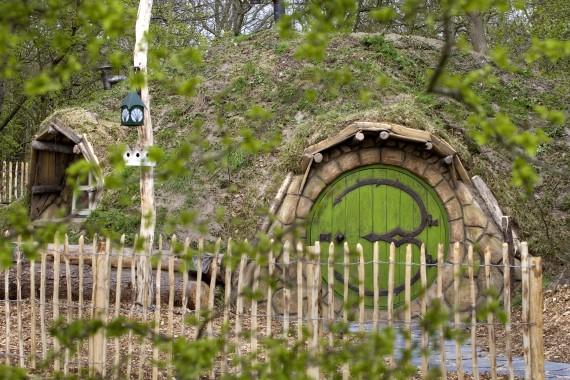 Hobbithaus eingang Zaun