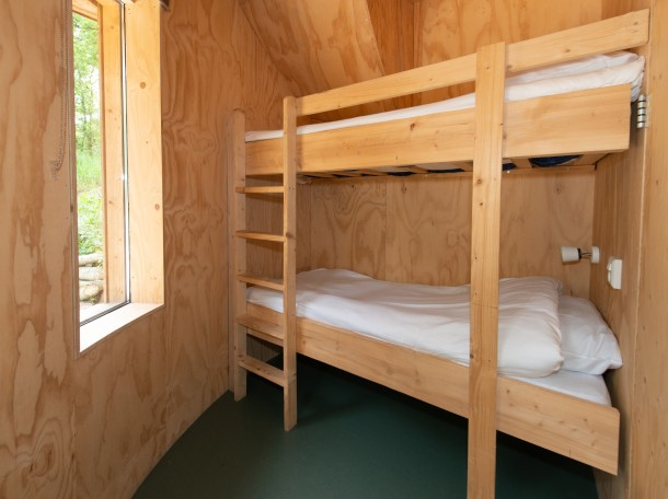 Baumhaus Hochbett bungalow camping geversduin holland