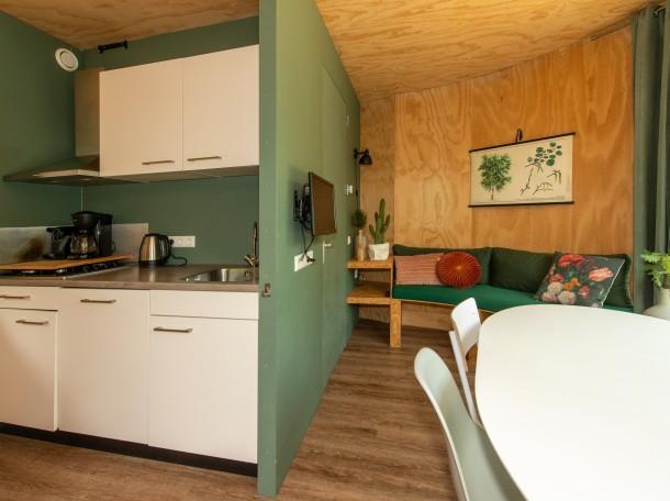 Baumhaus Küche kochen unterkunft camping geversduin holland