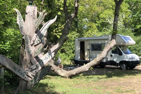Wohnmobil Holzschild Geversduin